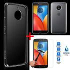 Ultra Thin Clear Crystal TPU Gel Case Cover + Film For Motorola Moto E4 /E4 Plus