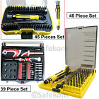 45-in-1 Precision HEX TORX STAR Socket Screwdriver Bits Set Mix Repair Tools Kit