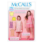 McCalls Sewing Pattern M7377  Childrens/Girls Tops Tent Dresses Romper & Shorts