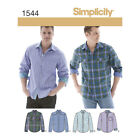 Simplicity 1544 | Men's Shirt with Fabric Variations Sewing Pattern
