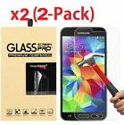 2-Pack Tempered Glass Screen Protector for Samsung Galaxy S3 S4 S5 Note 2 3 4 5