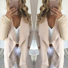 Fashion Women's Casual Long Coat Jacket Trench Outwear Cardigan Blazer Top USA