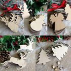 10 Xmas Craft Wood Ornament Festival Christmas Tree Hanging Decorations Pendant