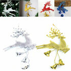 Christmas Bells Tree Ornaments Deer Chital Hanging Xmas Baubles Home Decoration