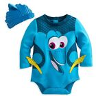 Disney Store Pixar Fest Finding Dory Baby Costume Outfit  Hat Set 0 3 6 9 M
