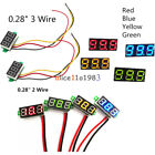 "Внешний вид - 0.28"" Red/Blue/Yellow/Green 2/3-Wire Voltmeter LED Display Voltage Panel Meter"