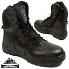 WOMENS GROUNDWORK NON SAFETY LADIES POLICE ARMY COMBAT MILITARY LEATHER BOOTS