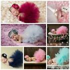 Внешний вид - Newborn Baby Girl Crochet Knit Tutu Skirt Costume Photography Photo Prop Fashion