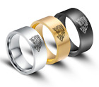 YBF/New Man's Stainless Steel Ring Game of Thrones Wolf Titanium Steel Rings