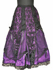 Gothic Victoria Renaissance Vamp Dark Purple Prom Night Sexy Net Skirt Punk
