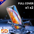 5D Full Cover Tempered Glass Screen Protector For Apple iPhone X 8 7 6s 6 Plus