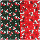 Christmas Fabric Little stockings & hat per 1/2 Metre or Fat quarter 100% cotton