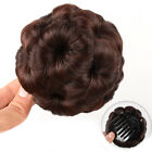 Synthetic Hair Bun Wavy Curly Combs 9 Flowers Bun Chignon Updo Cover Extensions