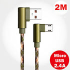 Micro USB 90 Degree L Shape Fast Charger Data Cable Cord For Samsung Galaxy S5/6