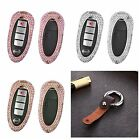 New Diamond Handmade Cover For Infiniti Smart Car Key Aluminum Case+Real Leather