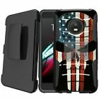 MINITURTLE Rugged Dual Shock Case Holster Stand for | Moto G5 Plus / Moto X 2017