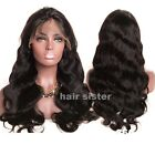 Quality Thick 360 Full Frontal Lace Wig Glueless Wavy Indian Virgin Human Hair h