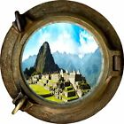 Huge 3D Porthole Enchanted Monument View Wall Stickers Film Decal Wallpaper 340