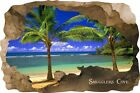 Huge 3D Smugglers Cove Beach Cave View Wall Stickers Mural  Decal Film 69