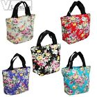 Women's Fashion Floral Handbag Canvas Casual Tote Bag Shopping Bag Lunch Shoulde