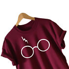 Men Women Harry Potter Glasses Deathly Hallows T-Shirt Lightning Tee Blouse 97K