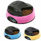 6 Meals Programmable Timer Automatic Pet Dog Cat Food Feeder Water Tray Bowls