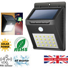LED Solar Powered PIR Motion Sensor Wall Security Light Lamp Garden Outdoor UK