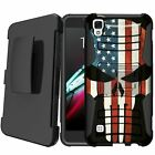 MINITURTLE Rugged Dual Layer Shock Case Holster Stand for [ LG Tribute HD ]