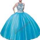 Newest Beaded Quinceanera Dresses Ball Gowns Formal Prom Party Wedding Dresses