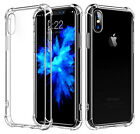 For iPhone 8 8Plus X 6S Cases Clear Hybrid Slim Shockproof Soft TPU Bumper Cover