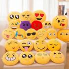 Cute Soft Emoji Yellow Round Cushion Emoticon Stuffed Plush Toy Smiley Pillow ED