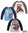 Boys Ultimate Spiderman Long Sleeve Top T Shirt Tee Ages 2 3 4 5 6 7 8 9 10