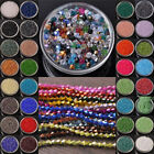 Wholesale 500pcs 4mm Bicone Faceted Crystal Glass Loose Spacer Beads (131Colors)