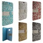 Samsung Galaxy Note 7 Premium Bling Diamond Wallet Flip Pouch Case +Screen Guard