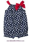 Gymboree NWT 1-pc Navy Blue SAILOR BABY FLORAL DRESS ROMPER OUTFIT 0 3 Months