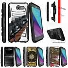 For Samsung Galaxy J3 Eclipse | J3 Mission (2017) Stand Clip Armor Case Sniper