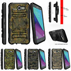For Samsung Galaxy J3 Eclipse | J3 Mission (2017) Stand Clip Case Abstract Camo