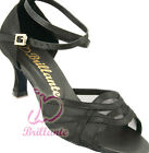 @@ Brillante #5L02B Black Latin Ballroom Salsa Dance Shoes UK3.5 - UK6.5 /2.5""