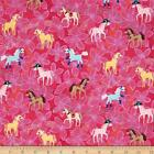 PRETTY PONIES MICHAEL MILLER QUILT SEWING FABRIC *Free Oz Post