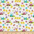 SPRING MEADOW BUNNY RABBIT MICHAEL MILLER QUILT SEWING FABRIC *Free Oz Post