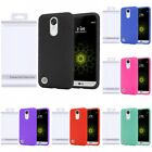 For LG K20 V Harmony M257 Rugged Silicone Protection Grip Soft Skin Case Cover