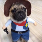 Pet Dog Cat Costume Suit Puppy Clothes Cowboy Police Halloween Costume Suit GIFT