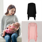 Womens Breastfeeding Nursing Cotton Scarf Cover Up Apron Shawl Cape Tops GIFT