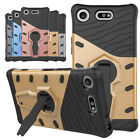 Heavy Duty Hybrid Armor Case Protective Stand Cover For Sony Xperia XZ1 Compact
