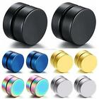 Fashion Stainless Steel Magnetic Ear Plugs Stud Non-Piercing Clip On Earrings