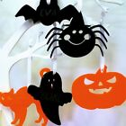 Personalised engraved acrylic halloween decoration spider pumpkin bat ghost cat