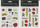 "U CHOOSE  Stickabilities SCHOOL flat Stickers  4X5"" (2 sheets)"