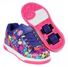 Heelys Dual Up X2 Shoes - Purple / Neon Multi / Puzzle  + Free How to DVD