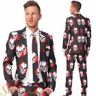 Suitmeister Mens Blood Skull Halloween Suit Fancy Dress Costume Outfit