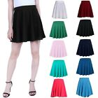 Women's Skater Skirt Pleated Flared A Line Circle Elastic Stretch Waist
